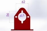 Medidas do flange de fixação dos cilindros
